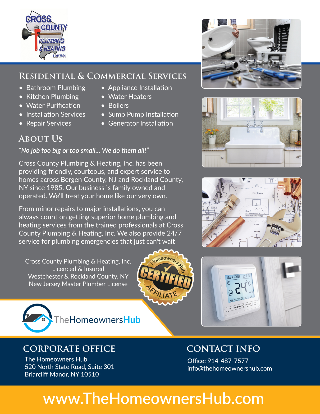 Cross County Pluming & Heating Services